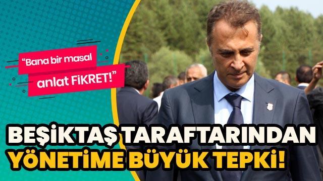 Beşiktaş taraftarından yönetime büyük tepki
