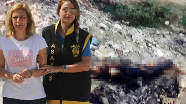 Kocasını sevgilisine bıçaklatıp cesedini yakmış