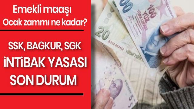 Emekli maaşı ocak zammı ne kadar? SSK, Bağkur, SGK emekli maaşı intibak yasası son durum nedir? TÜED'den seyyanen artış önerisi