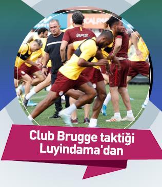Galatasaray'da Club Brugge taktiği Luyindama'dan geldi