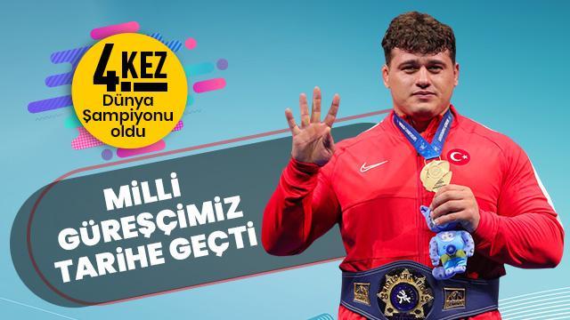 Milli Güreşçi Rıza Kayaalp 4. kez Dünya Şampiyonu oldu