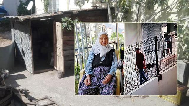 Antalya'da 91 yaşındaki kadına kümeste dehşeti yaşattı