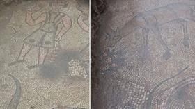 Kaçak kazıda Roma dönemine ait 1500 yıllık mozaik bulundu