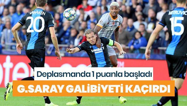 Galatasaray galibiyeti kaçırdı