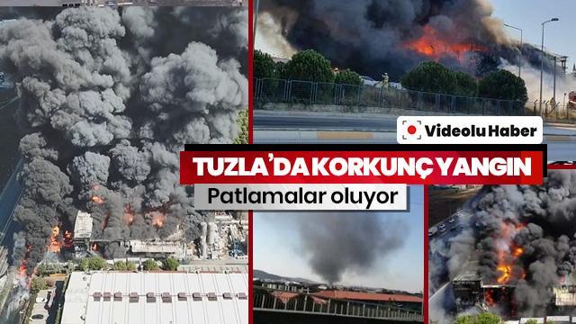 Tuzla'daki fabrika yangınında patlama! Yaralılar var