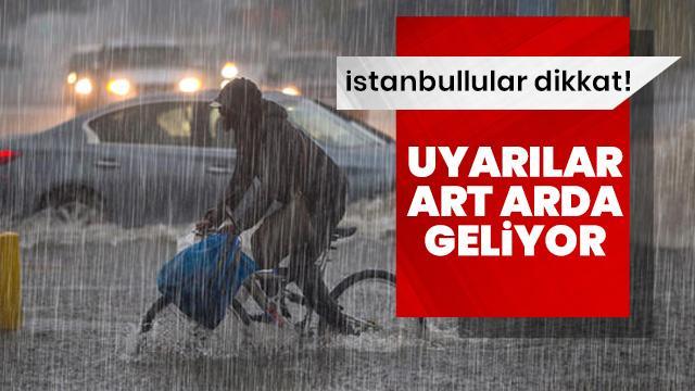Meteoroloji'den İstanbul'a son dakika hava durumu ve sağanak yağış uyarısı geldi