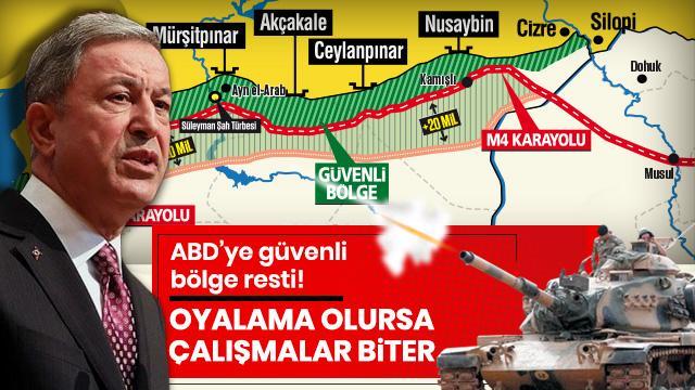 """Bakan Akar'dan """"güvenli bölge"""" uyarısı: Oyalama olursa çalışmalar biter"""