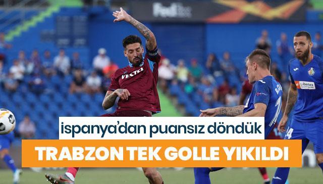 Trabzonspor deplasmanda tek golle yıkıldı