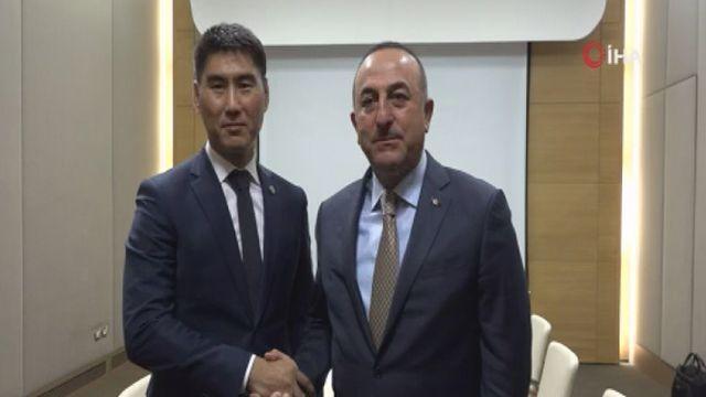 Dışişleri Bakanı Çavuşoğlu Kırgız mevkidaşı ile görüştü