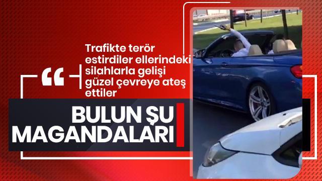 İstanbul'da düğün konvoyunda şoke eden görüntüler!