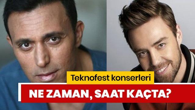 Teknofest Mustafa Sandal konseri saat kaçta? Teknofest Murat Dalkılıç konseri ne zaman?