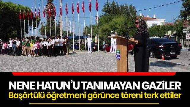 İzmir'de birkaç tane gazi tesettürlü öğretmeni protesto etti