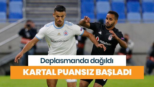 Beşiktaş, UEFA'ya puansız başladı