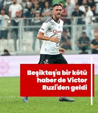 Beşiktaş'a bir kötü haber de Victor Ruiz'den geldi!
