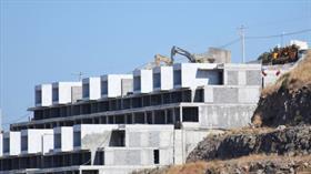 Bodrum'da rezidans ve villa inşaatındaki yıkım