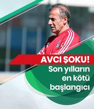 Beşiktaş, Abdullah Avcı yönetiminde son yılların en kötü başlangıcını yaptı