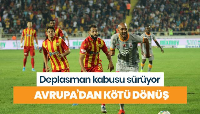 Galatasaray'ın Avrupa'dan kötü dönüşü