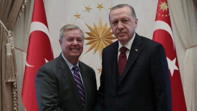Başkan Erdoğan, ABD'li senatör Lindsey Graham'ı kabul etti