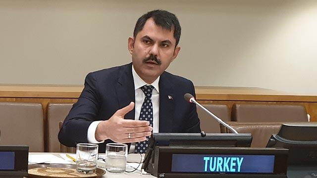 Çevre ve Şehircilik Bakanı Kurum'dan 'iklim değişikliği' mesajı