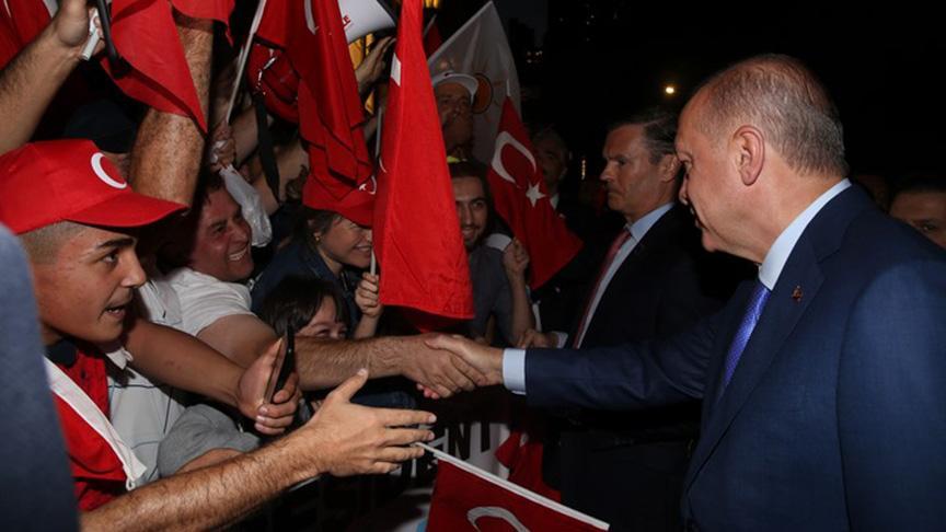 Başkan Erdoğan'a ABD'de insan seli
