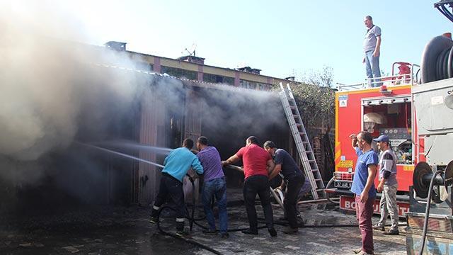 Kastamonu'da beyaz eşya deposunda yangın
