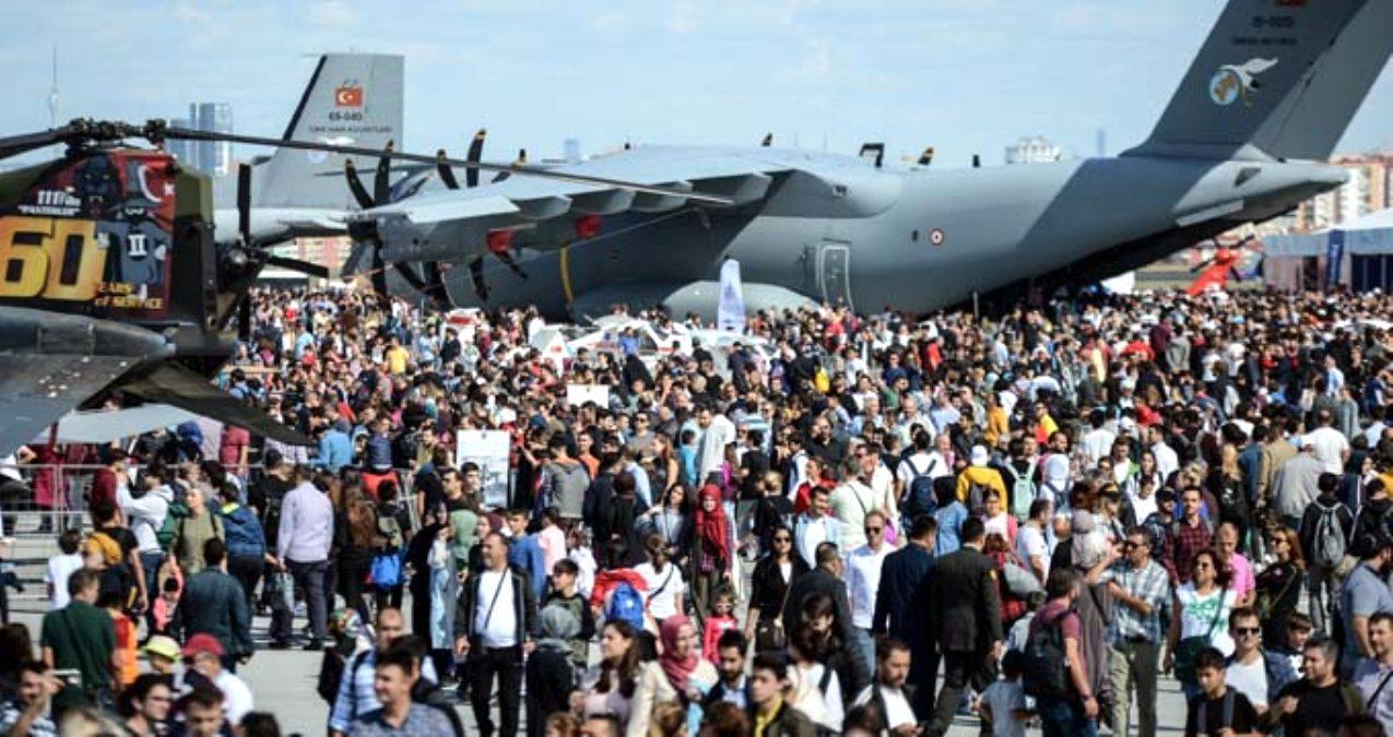 TEKNOFEST İstanbul Havacılık, Uzay ve Teknoloji Festivali'ne katılım 1 milyon 720 bin kişiyle rekor kırdı