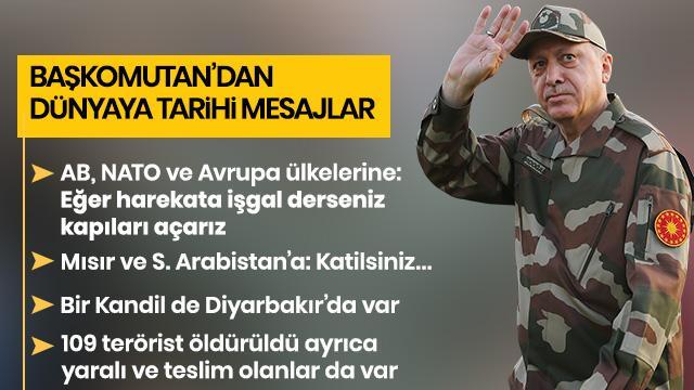 Erdoğan'dan dünyaya tarihi mesajlar