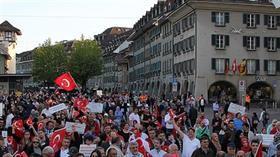 İsviçre'deki Türklerden Barış Pınarı Harekatı'na destek, YPG/PKK'ya tepki