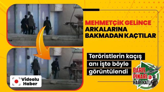 Mehmetçik gelince arkalarına bakmadan kaçtılar! Teröristlerin kaçış anı işte böyle görüntülendi