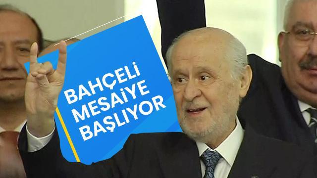 MHP lideri Devlet Bahçeli mesaiye başlıyor