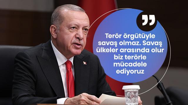 Başkan Erdoğan: Terör örgütüyle savaş olmaz mücadele olur