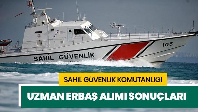 Sahil Güvenlik Komutanlığı personel alıyor! Sahil Güvenlik Komutanlığı uzman erbaş alımı sonuçları açıklandı mı?