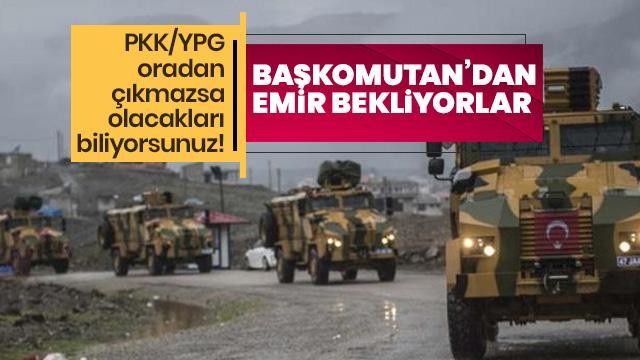 Münbiç sınırında TSK ve MSO operasyon için hazır bekliyor
