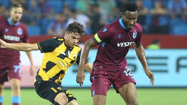 Trabzonspor'da Obi Mikel antrenmanı yarıda bıraktı