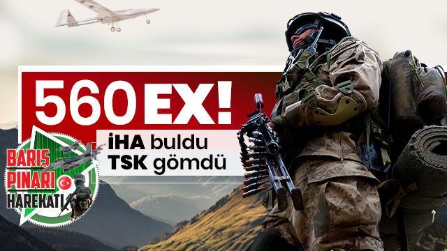 Barış Pınarı Harekatı'nda etkisiz hale getirilen PKK/PYD-YPG'li terörist sayısı 560 oldu