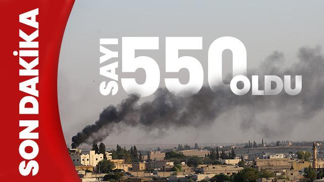 Son Dakika... Barış Pınarı Harekâtı'nda etkisiz hale getirilen terörist sayısı 550 oldu