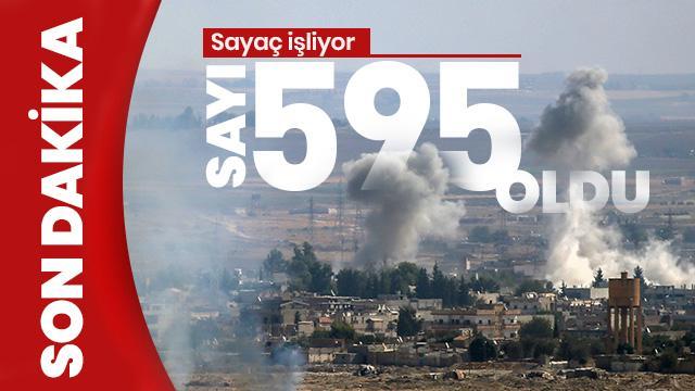 Son Dakika... Barış Pınarı Harekâtı'nda etkisiz hale getirilen terörist sayısı 595 oldu