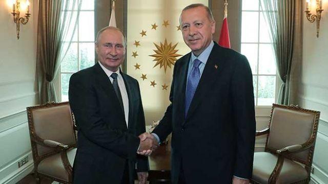 Başkan Erdoğan Putin ile görüştü...