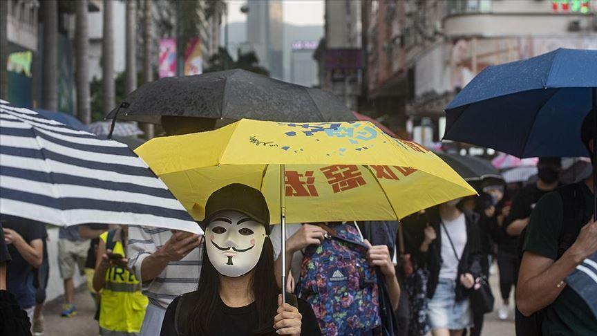 Hong Kong'da protestoculardan ABD'ye yasa çağrısı