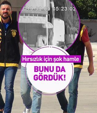 Adana'da hırsızlık amacıyla kamyonetin üstüne çıkıp, daireye girmeye çalışan şüpheli yakalandı