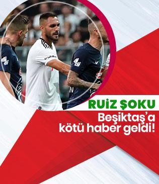 Beşiktaş'ta Victor Ruiz 2-3 hafta sahalarda yok