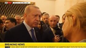 Başkan  Erdoğan'dan, Sky News muhabirine tarihi ayar