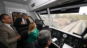 Anadolu DMU Milli Tren Seti Uşak'ta test sürüşüne başladı