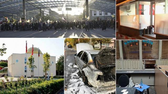 Panik halindeki PKK/YPG sempatizanları Avrupa'daki saldırılarını artırdı