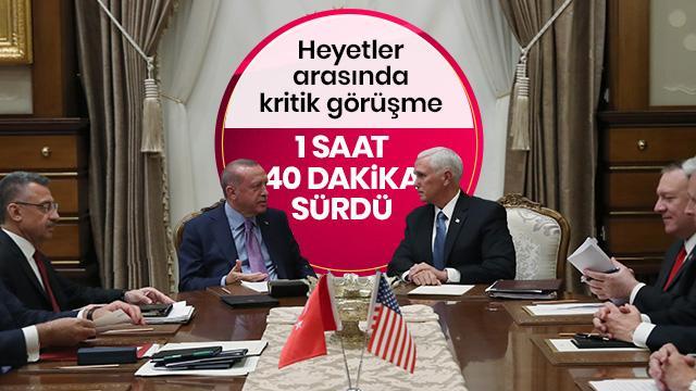 Başkan Erdoğan Pence'i kabul etti