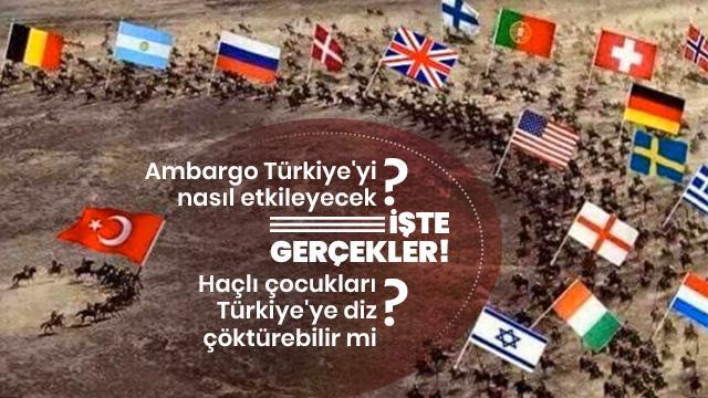 Ambargo Türkiye'yi nasıl etkileyecek?