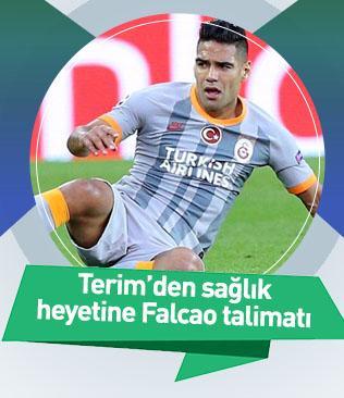 Fatih Terim'den sağlık heyetine Falcao talimatı