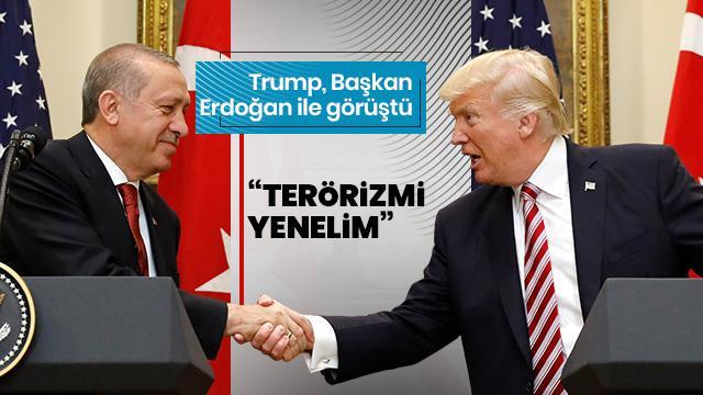 Trump, Başkan Erdoğan ile telefonda görüştüğünü açıkladı