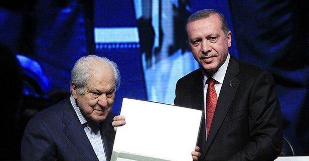 Başkan Erdoğan'dan Nuri Pakdil için başsağlığı mesajı