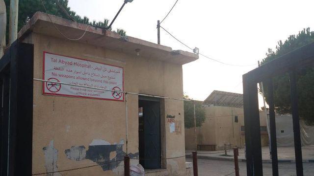 PKK'lılar Tel Abyad Hastanesi'nin malzemelerini yakmış